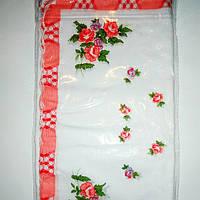 Носовой платок женский с красной окантовкой