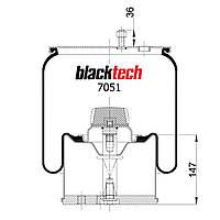 Пневмоподушка BPW RML7051C (BLACKTECH)