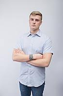 Распродажа! Мужская рубашка в голубая в полоску. р. M, L, XXL.