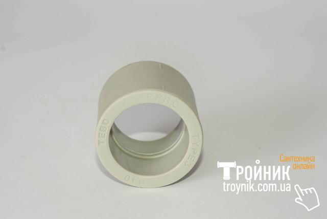 Муфта поліпропіленова 40 Tebo сіра