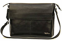 Кожаная мужская сумка Tom Stone L508 черная