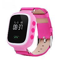 Smart Baby Watch Q60 c GPS трекером Есть 3 цвета! Розовый