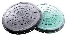 """Люк полимерпесчаный легкий  """"Л"""" зеленый  2т. (30 кг) (Ø кр.640; осн.750, h-110), фото 3"""