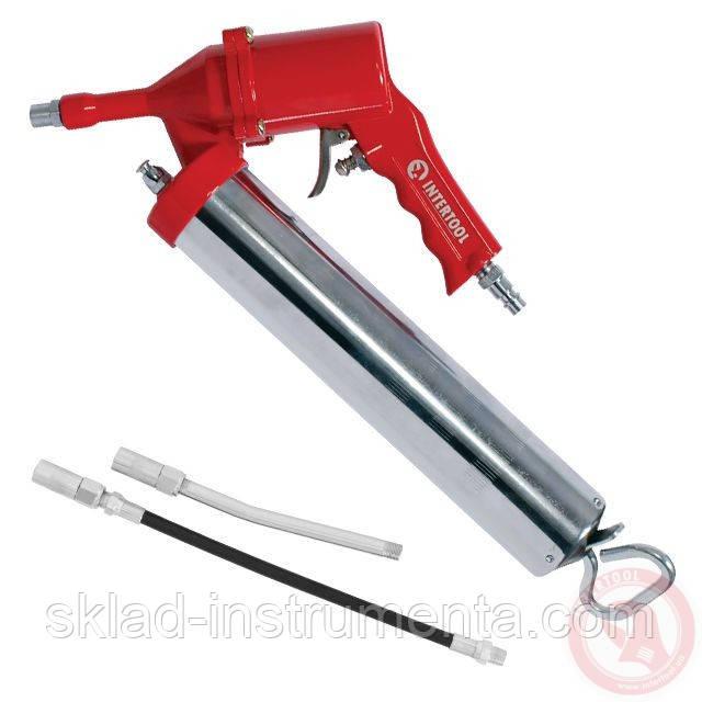 Пистолет для выдавливания смазки пневматический + две насадки