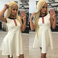 Женское шикарное белое платье с юбкой-солнце + большие размеры , фото 1