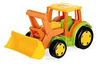 Большой игрушечный трактор Гигант с ковшом(без картона)  Арт: 66005