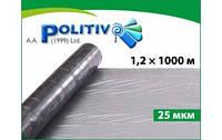 Плёнка чёрно-серебристая (25 микрон), фото 1