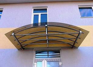 Монолитный поликарбонат  Bauglas2мм бронза, 2.05*4м, фото 2
