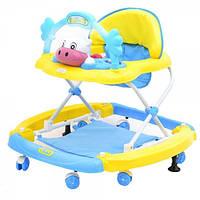 Ходунки с качалкой TILLY T-432 BLUE, ходунки для малышей