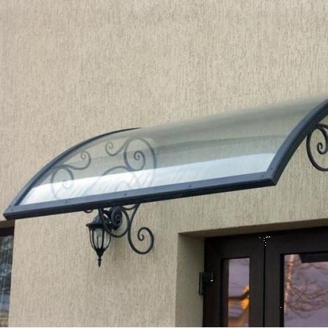 Монолитный поликарбонат  Bauglas 4мм прозрачный,  порезка 2.05*1м