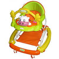 Ходунки-качалка для малышей TILLY T-432 ORANGE, детские ходунки