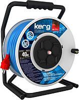 Удлинитель катушка Kerg 30 м 3 x 1,5мм синий-красный