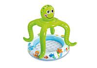 """Детский надувной бассейн с навесом """"Осьминог"""" Intex 57115"""