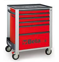 BETA Тележка для инструментов, 6-выдвижных ящиков, красная /2400c24s6r