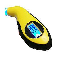 Электронный манометр измеритель давления в шинах с подсветкой 2-100 Sport Gauge Yellow. Дешево.  Код: КГ612