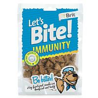 Brit Lets Bite Immunity лакомство для собак для поддержки иммунитета с курицей, 150г