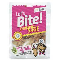Brit Lets Bite Chompin Sage лакомство для собак с шалфеем для здоровья зубов, 150г