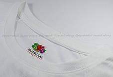 Мужская Спортивная Футболка Fruit of the loom Белый 61-390-30 Xl, фото 3