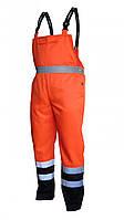 BETA Рабочие штаны, полукомбинезон со светоотражателями (оранжевые) VWTC08O – размер M