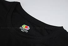 Мужская Спортивная Футболка Fruit of the loom Чёрный 61-390-36 S, фото 2