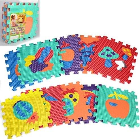 """Ігровий масажний килимок мозаїка """"Фрукти і овочі"""" M 2622"""