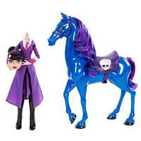 Monster High Директриса Headmistress Bloodgood and Nightmare Horse и конь Кошмар в наборе, фото 1
