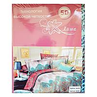 Комплект постельного белья 5D (стильный узор) двойка