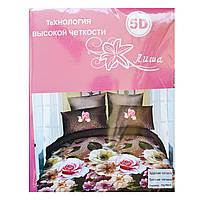 Комплект постельного белья 5D поликоттон полуторка