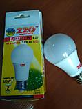 Лампа LED 12 Вт светодиодная 3000K, Е27, 12W 1200Lm А 65 шар, фото 3
