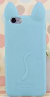 Чехол силиконовый Голубой кот iphone 5/5S, фото 1
