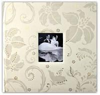 Свадебный фотоальбом из эко-кожи цвета слоновой кожи на 400 фото размером 10х15 в подарочном коробе