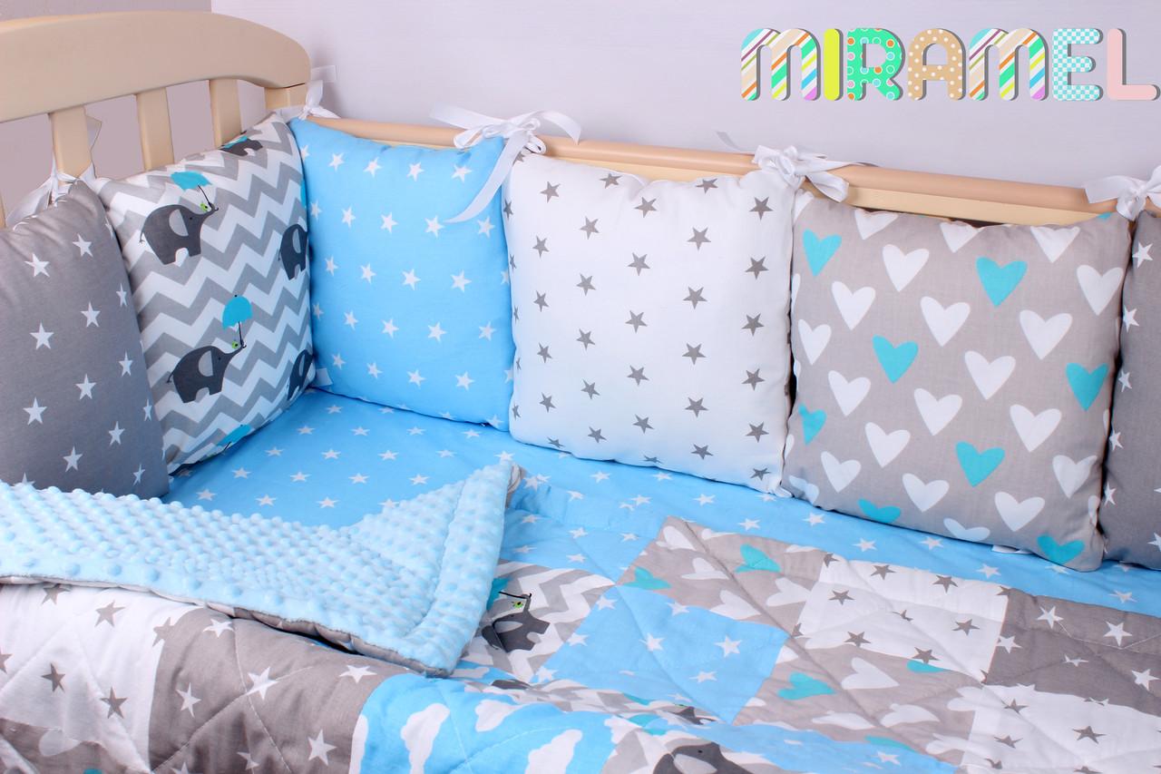 Постельное белье в кроватку для новорожденных