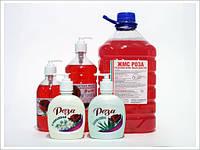 Жидкое мыло ЖМС РОЗА 5 л  (антибактер. С триклозаном содержит глицерин, кокосовое масло)