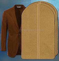 """Чехол для хранения одежды 60х100см из дышащей ткани """"спанбонд"""" бежевый"""