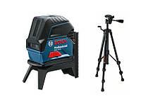 Лазерный дальномер Bosch крестцово-точечный gcl2-15 + rm1 + штатив bt150 в картонной коробке