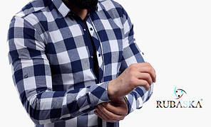 Яркая мужская рубашка в клетку новинка сезона