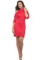 Трикотажное красное платье SO-14083-RED ТМ Alpama  44-48 размеры