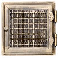 Вентиляционная каминная решетка Stylowa с жалюзи, золотая патина