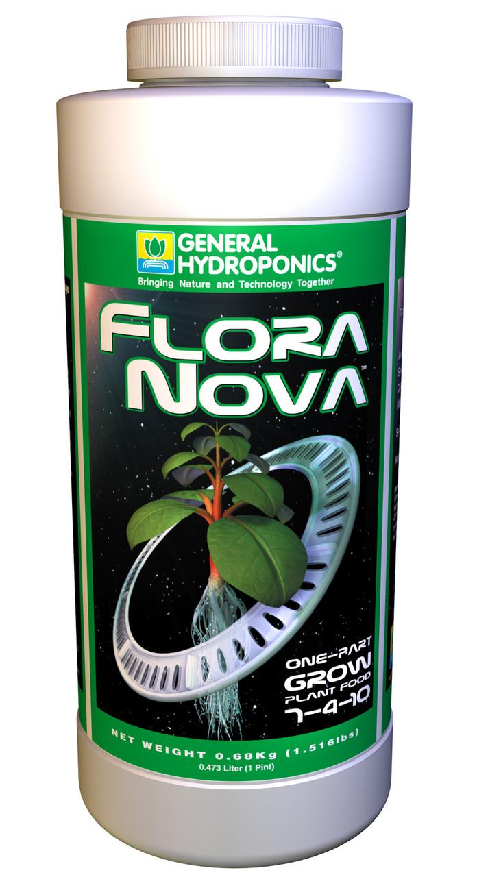 GHE FloraNova Grow 946ml. Оригинал.  Минеральное удобрение для гидропоники Франция