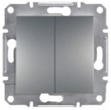 Schneider Asfora Plus Механизм выключателя 2-клавишный сталь