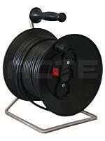 Удлинитель на катушке Длина 5м  (ПВС 2х2,5 5 кВт) без заземления