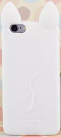 Силиконовый Чехол-кот белый для Iphone 5/5S