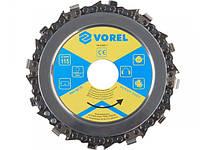 Vorel 08770 ланцюговий диск по дереву на болгарку 115мм