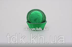 Тарталетка фольгированная Зеленая 50шт