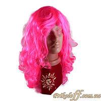 """Парик розовый """"Вьющиеся локоны"""""""