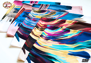 Женский шерстяной платок Абстракт, фото 3