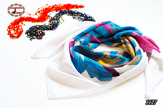 Женский шерстяной платок Абстракт, фото 2