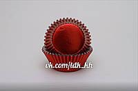 Тарталетка фольгированная Красная 50шт