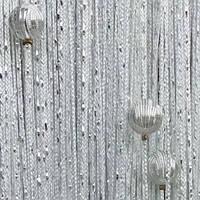 Дождь с Бусинами №1 Белый