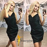 """Женское стильное платье """"Элиза"""" (3 цвета) чёрный, 46"""